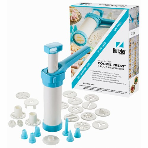 Hutzler Cookie Press and Food Decorator Set Perspective: front
