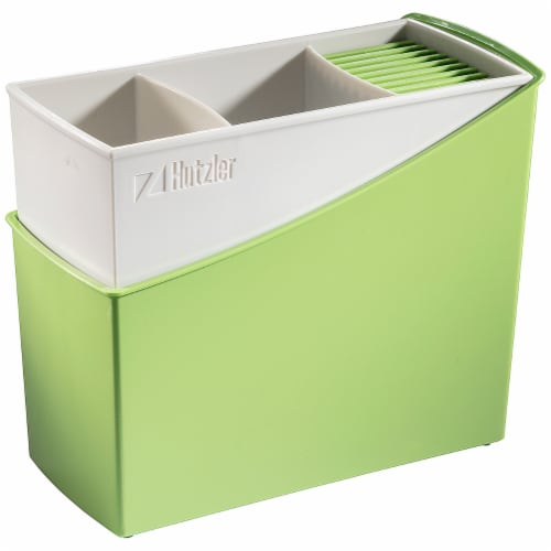 Hutzler Cutlery Caddy - Green Perspective: front