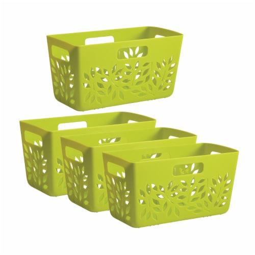 Hutzler Pantry Basket Set - Green Perspective: front
