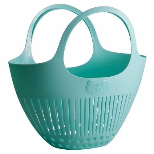 Hutzler Garden Colander Harvest Basket - Blue Perspective: front