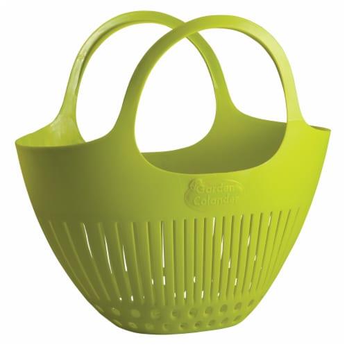 Hutzler Garden Colander Harvest Basket - Green Perspective: front