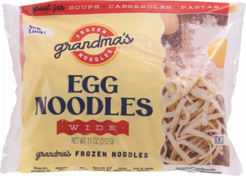 Grandma's Frozen Wide Egg Noodles Perspective: front
