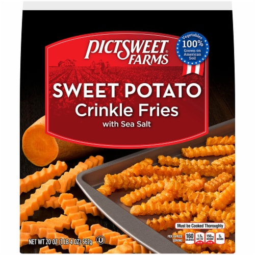 PictSweet Farms Crinkle Cut Sweet Potato Fries with Sea Salt Perspective: front