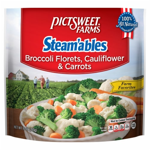 PictSweet Farms Steam'ables Farm Favorites Broccoli Florets Cauliflower & Carrots Perspective: front