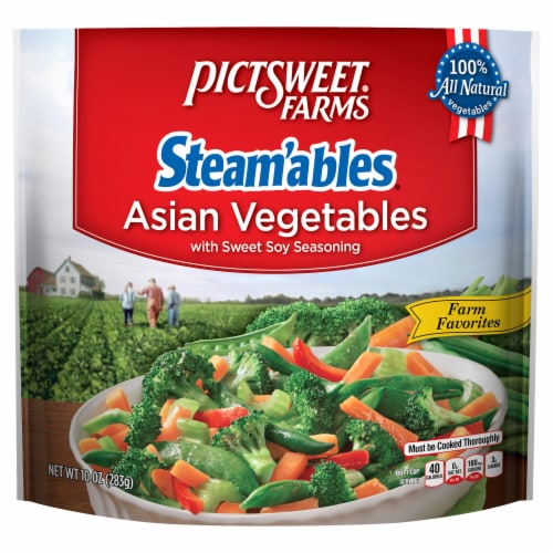 PictSweet Steam'ables Farm Favorites Sweet Soy Seasoned Asian Vegetables Perspective: front