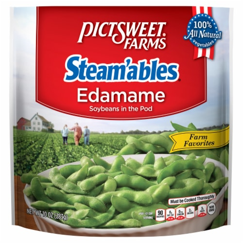 PictSweet Farms Steam'ables Farm Favorites Edamame Soybeans in the Pod Perspective: front