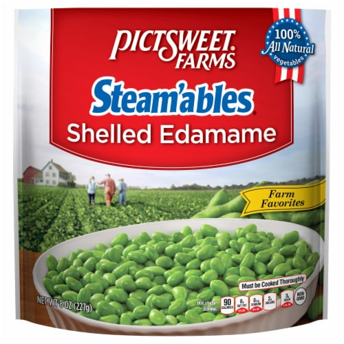 PictSweet Farms Steam'ables Shelled Edamame Perspective: front