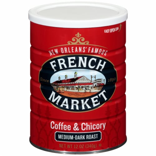 French Market Medium-Dark Raost Coffee & Chicory Perspective: front