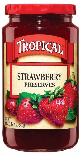 Tropical Strawberry Preserves Perspective: front