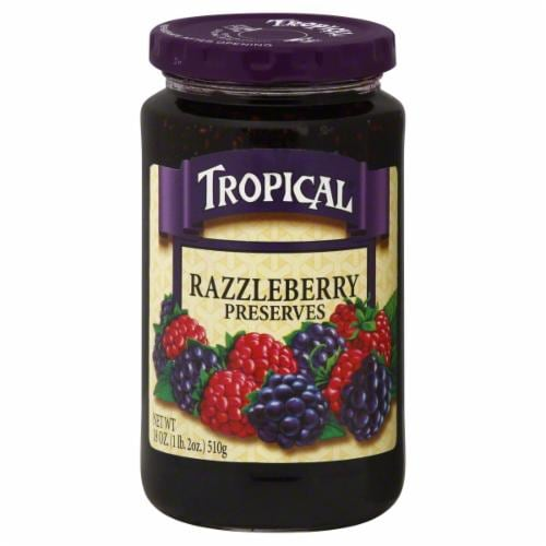 Tropical Razzleberry Preserves Perspective: front
