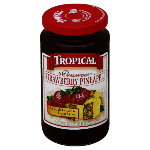Tropical Strawberry Pinapple Preserves Perspective: front