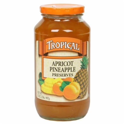 Tropical Apricot Pineapple Preserves Perspective: front