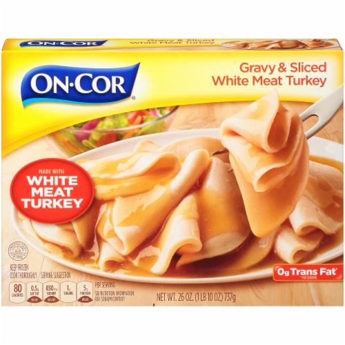 On-Cor Traditionals Gravy & Sliced White Meat Turkey Perspective: front
