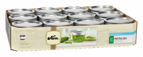 Kerr® Wide Mouth Half Pint Jars 12 Pack Perspective: front