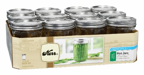 Kerr® Wide Mouth Pint Mason Jars - Clear Perspective: front