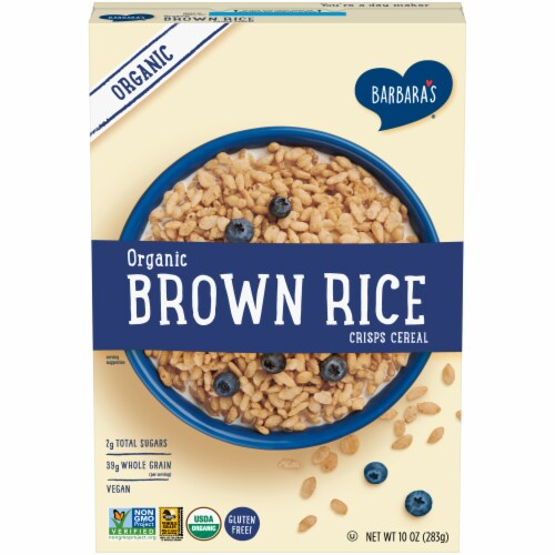Barbara's Organic Brown Rice Crisps Cereal Perspective: front