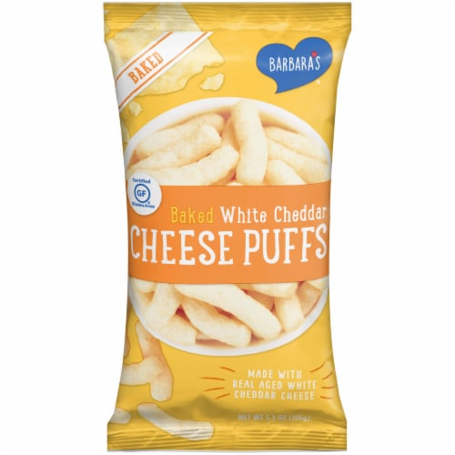 Barbara's Baked White Cheddar Cheese Puffs Perspective: front