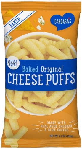 Barbara's Baked Original Cheese Puffs Perspective: front