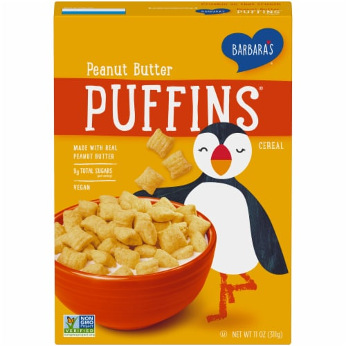 Barbara's Puffins Peanut Butter Cereal Perspective: front