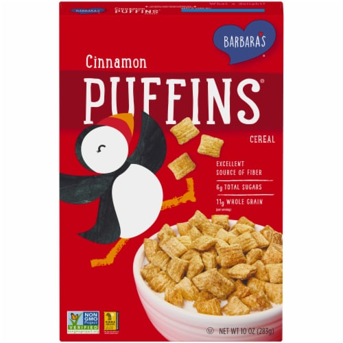Barbara's Puffins Cinnamon Cereal Perspective: front
