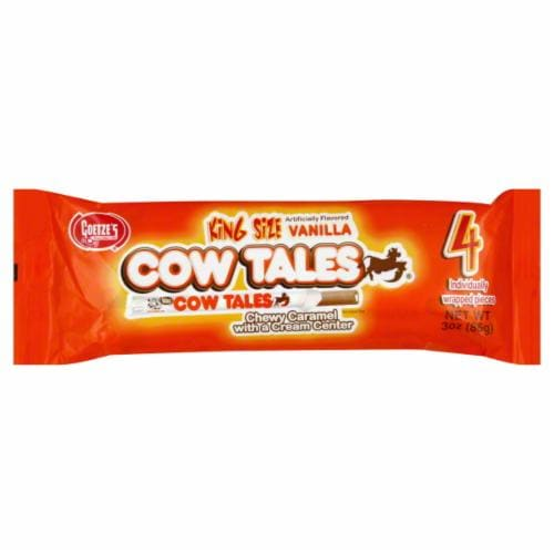Goetze's Cow Tales Chewy Caramel with Cream King Size Perspective: front
