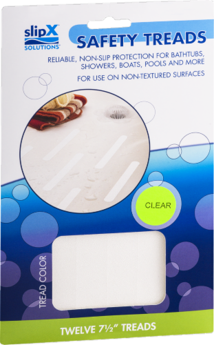 SlipX Solutions Bubble Bath Mat - Clear Perspective: front