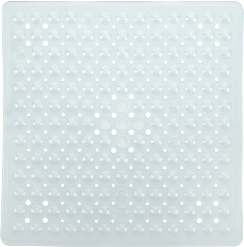 SlipX Solutions Essential Square Shower Mat - Clear Perspective: front