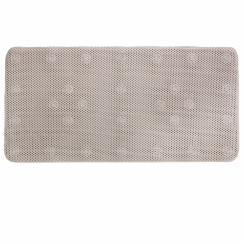 SlipX Solutions Soft Touch Comfort Foam Bath Mat - Tan Perspective: front