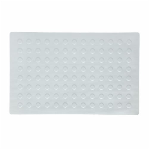 SlipX Solutions Rubber Safety Microban Bath Mat - White Perspective: front