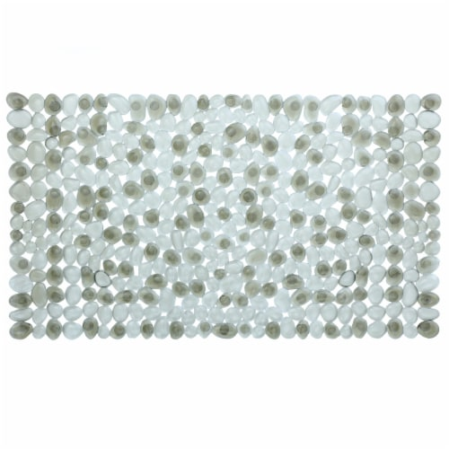 SlipX Solutions Pebble Bath Mat - Gray Perspective: front