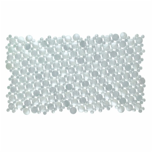 SlipX Solutions Burst of Bubbles Bath Mat - Pearl White Perspective: front
