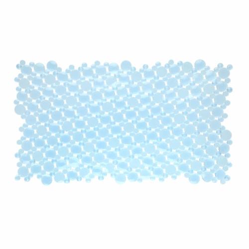 SlipX Solutions Burst of Bubbles Bath Mat - Light Blue Perspective: front