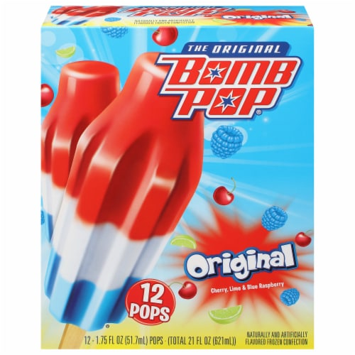 Bomb Pop Original Ice Pops Perspective: front