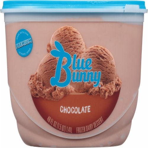 Blue Bunny Chocolate Frozen Dairy Dessert Perspective: front