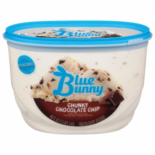 Blue Bunny Chunky Chocolate Chip Ice Cream Perspective: front