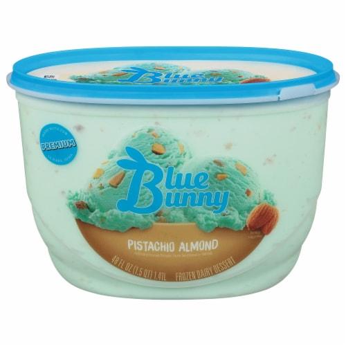 Blue Bunny Pistachio Almond Frozen Dairy Dessert Perspective: front