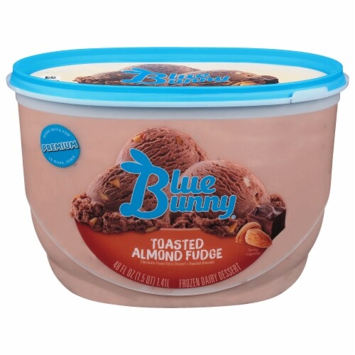 Blue Bunny Toasted Almond Fudge Frozen Dairy Dessert Perspective: front
