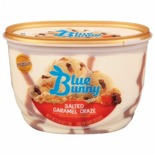 Blue Bunny Salted Caramel Craze Frozen Dairy Dessert Perspective: front