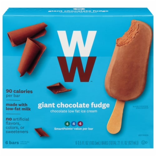 Weight Watchers Giant Chocolate Fudge Ice Cream Bars Perspective: front