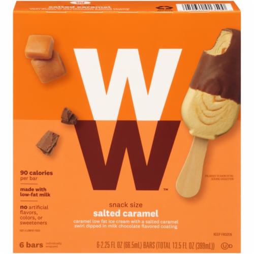 Weight Watchers Salted Caramel Ice Cream Bars Perspective: front
