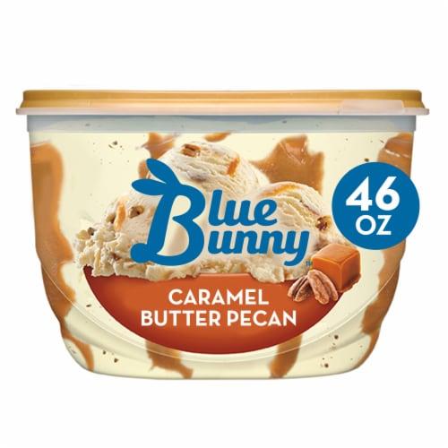 Blue Bunny® Caramel Butter Pecan Praline Frozen Dairy Dessert Perspective: front