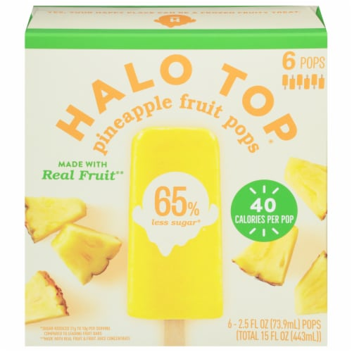 Halo Top Pineapple Fruit Pops Perspective: front