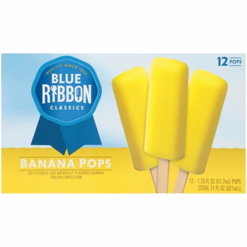 Blue Ribbon Banana Pops 12 Count Perspective: front