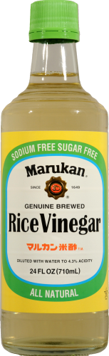Marukan Genuine Brewed Rice Vinegar Perspective: front
