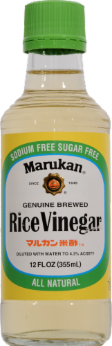 Marukan Genuine Brewed Rice Vinegar Perspective: front