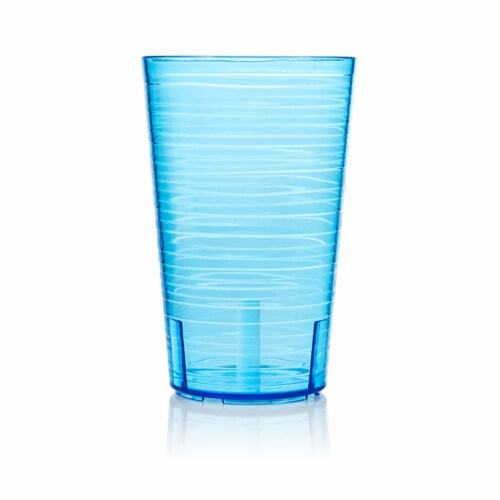 Arrow Home Products 14 oz. Blue Plastic Cup - Case Of: 1; Perspective: front