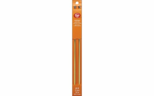 Boye 14-Inch Aluminum Single Point Knitting Needle - Gold Perspective: front