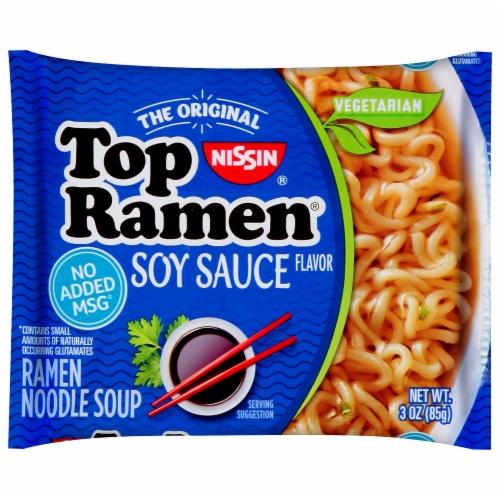 Nissin Top Ramen Oriental Flavor Noodles Perspective: front