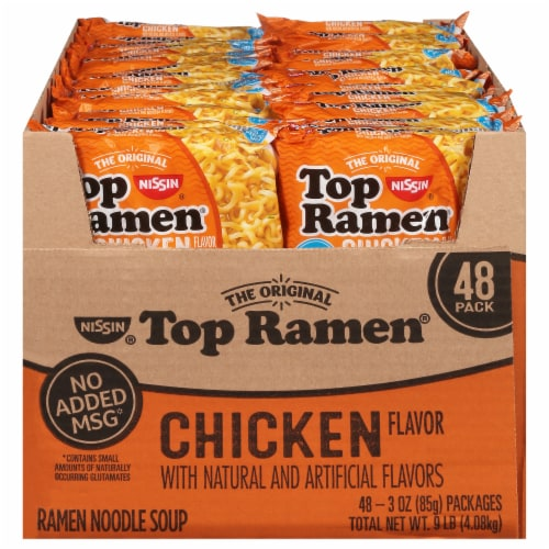 Top Ramen Chicken Flavor Noodle Soup Perspective: front