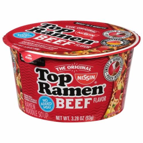 Nissin® Top Ramen® Beef Flavor Ramen Noodles Perspective: front